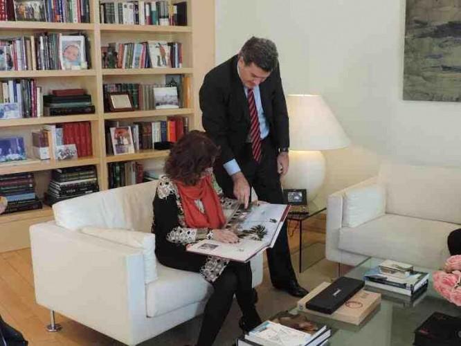 MADRID: con la Alcaldesa Ana Botella.