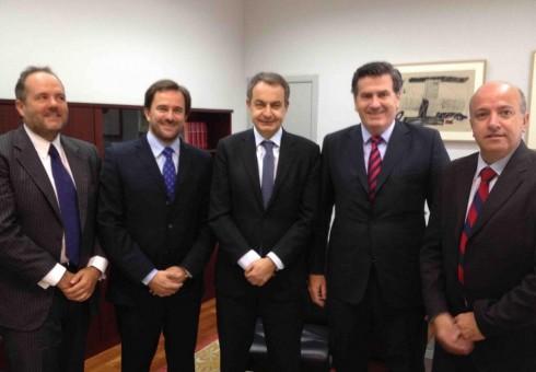 MADRID: delegacion en entrevista con Rodriguez Zapatero.