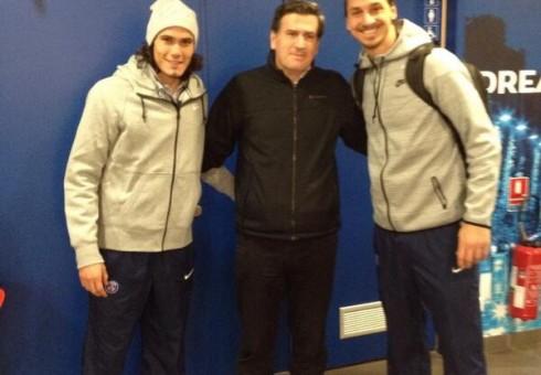 PARIS: en el PSG con  Edison Cavani y Zlatan Ibrahimovic