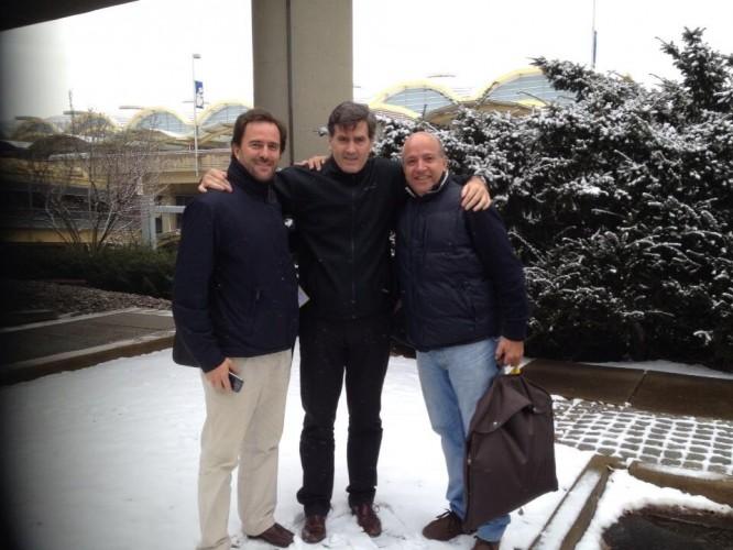 NEW YORK: con Germán Cardoso y Germán Coutinho.